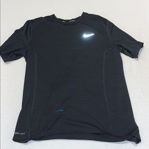 NIKE Running Dri Fit Shirt L Black